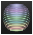multicolored disc sphere vector image vector image