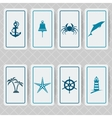 nautical invitation card set vector image