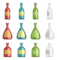 ollection of alcohol bottles vector image