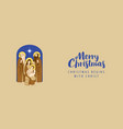 postal envelope on a merry christmas theme vector image