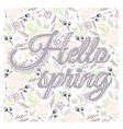 Printable spring wall art with floral pattern vector image vector image