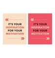 Quote blank template bubble set vector image