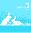 rabbits in blue vector image vector image