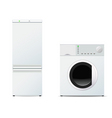 refrigerator and washing machine vector image