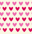 retro seamless pattern pink and red hearts on vector image vector image