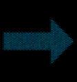 right arrow composition icon of halftone bubbles vector image