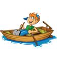 Rowing boat vector image