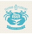 seafood shops with crab vector image vector image