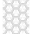 seamless gray hexagon vector image vector image