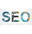 SEO Search engine optimization concept vector image