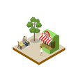 shooting gallery isometric 3d element vector image