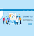 sick people need doctor advise landing page design vector image vector image