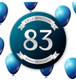 Silver number eighty three years anniversary vector image vector image