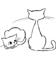 Sketched cats vector image vector image