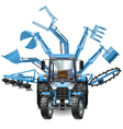 Tractor Multi Equipment vector image vector image