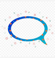 transparent chat cloud in colorful execution vector image
