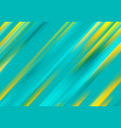 turquoise and yellow smooth stripes abstract vector image vector image