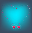 two loving hearts two houses full of love vector image