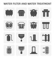 water filter icon vector image vector image