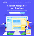 web site design template business team vector image vector image
