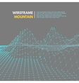 Wireframe mesh polygonal surface vector image