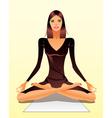 Woman exercising yoga meditation vector image