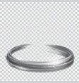 gray glowing fire rings with glitters vector image