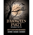 Halloween flyer or poster design template vector image
