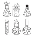 Set of chemical test tubes vector image