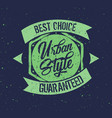 urban style badge label vector image