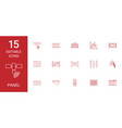 15 panel icons vector image vector image