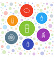 7 juice icons vector image vector image