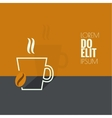 abstract background with a cup coffee vector image