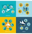 Airport terminal flight services vector image
