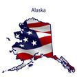 alaska full american flag waving in wind vector image