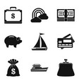 artificial reservoir icons set simple style vector image vector image