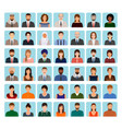 avatars characters set of different people vector image vector image