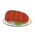 beef steak food icon image vector image vector image
