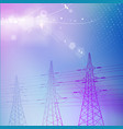 blue electric power transmission tower vector image vector image