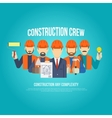 Builders Concept Flat vector image vector image
