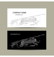 Business cards design with cityscape sketch vector image vector image