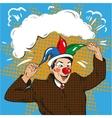 businessman clown in jester vector image
