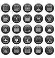 calendar icons set vetor black vector image vector image