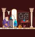 cartoon alchemist vector image vector image