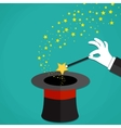 Cartoon Magicians hands holding a magic wand vector image vector image