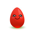 cartoon red easter egg happy smiling isolated on vector image vector image