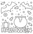 coloring page black and white vector image vector image