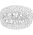 coloring page for adults with mandala and winter vector image vector image