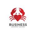 crab love logo style vector image