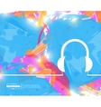 Creative headphone Art vector image